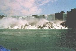 [American Falls from river]